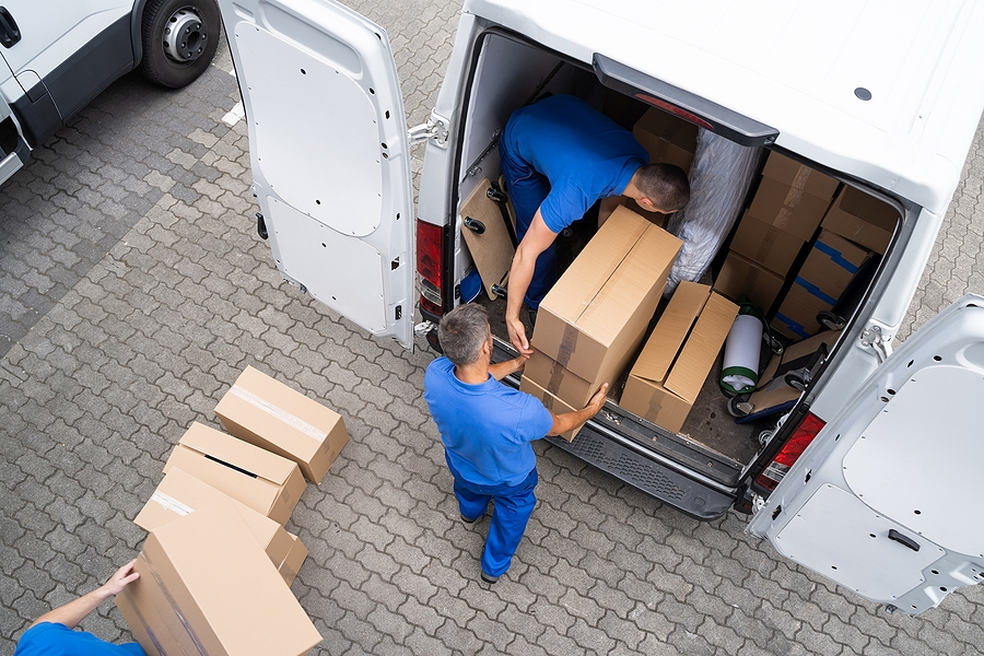 Two Men Working In Corporate Removals